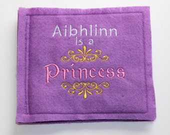 Personalized Book for Child or Baby - Felt Book - Princess - Personalized Story Book - Baby Gift - Child Gift - Princess Story