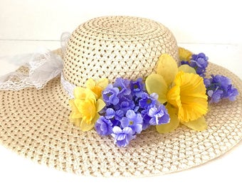 Teen/Adult Tea Party Hat, Derby Hat, Sun Hat, Wedding Hat, Teady to Ship