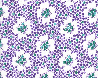Everything But The Kitchen Sink - Purple Floral Fabric - Tea Time