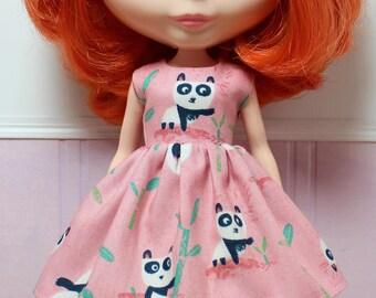 BLYTHE doll Its my party dress - pink panda party