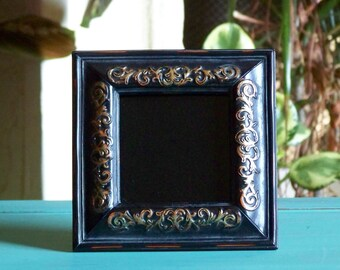 Black/Gold Scrying Mirror 3x3