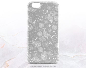 iPhone 7 Case Gray Floral iPhone 7 Plus Case iPhone 6s Case iPhone SE Case iPhone 6 Case iPhone 5S Case Galaxy S7 Case Galaxy Case S6 T120