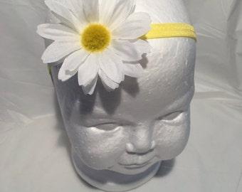 Daisy headband baby girl stretch headband toddler headband newborn headband