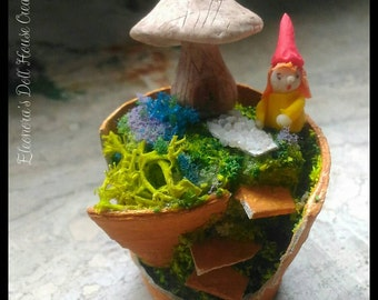Mini vaso con giardino