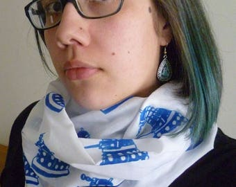 Doctor Who Dalek Screen Printed Infinity Scarf