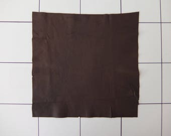 """Chocolate Tanned Deerskin Leather 15"""" x 15"""", Perfect for Handbags, Garment, Leather Crafts, Deerskin Project Pieces, Craft Piece, Leather"""