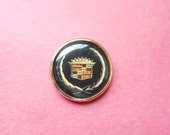 Vintage Cadillac Logo Round Advertising Tie Tac Award Collectible Automobile Car Emblem Men's Jewelry