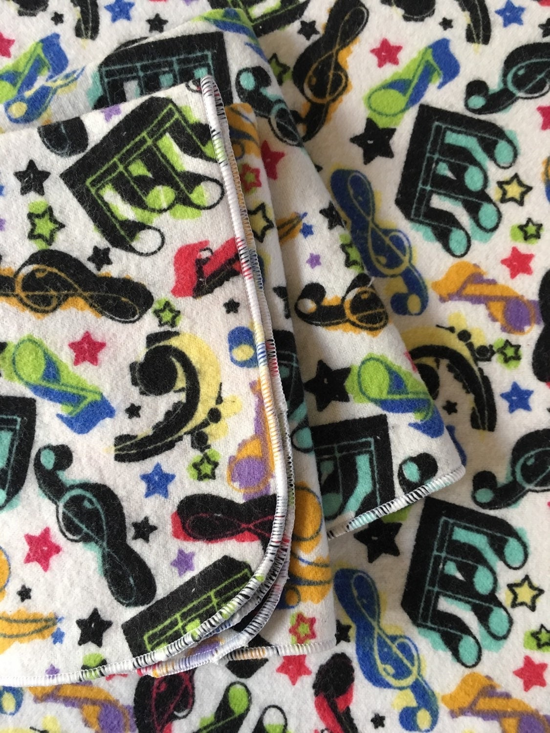 Musical note all cotton flannel towel multi colored 12x15 for 12x15 calculator