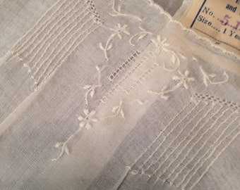 Antque/Vtg. 1920/30's Girl's Dress w/Tag /Embroidered/Cutwork/Philippines/NW