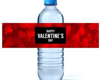 Valentine's Water Bottle Labels - Valentine's Day Water Labels - Valentine's Day Decor - Water Bottle Labels -  Valentine's Party Favors
