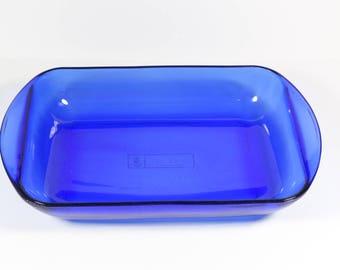 Anchor Hocking Cobalt Blue Rectangular Baking Dish Casserole 3 Qt  - Anchor Ovenware