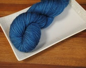 Big Blue Box on Laurel, Merino/Nylon/Stellina Fingering Weight Hand-dyed Yarn