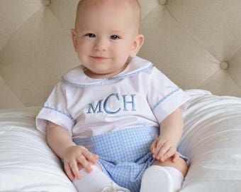 Baby Boy Baptism Outfit | Baby Boy Christening Outfit | Baby Boy Baptism Romper | Toddler Boy Baptism Outfit | Baby Boy Blessing 292868