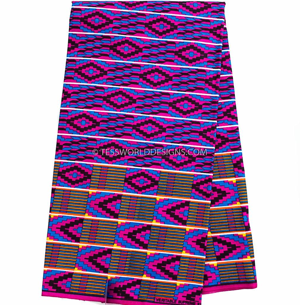 Kente Fabric Purple Kente Cloth Kente Print Kente Cloth