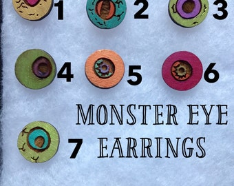 Monster Eye Earrings