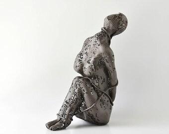 Contemporary metal art, Female sculpture, Unique home decor,  Abstract sculpture, Metal sculpture