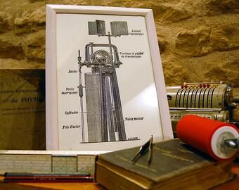 Flyswatter prototype - linocut