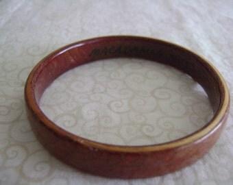 Hawaiian Macadamia Nut Bangle Bracelet