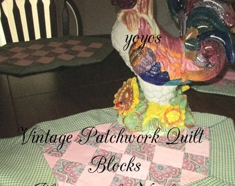 VINTAGE PLACEMATS Quilted Set of Four With Napkins