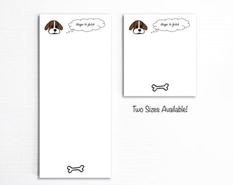 Dog Owner Notepad, Grocery Shopping List, Things To Buy, Handmade Paper Pad