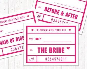 Bachelorette Party Mug Shot Signs  Digital Download or Printed