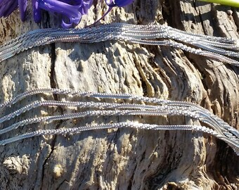 Opera Length Sterling Silver Hallmarked Long Necklace