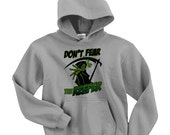 Don't Fear The Reefer Graphic Print Hoodie, Unisex Adults, Vintage Look, Classic Hoodie, Surf wear, Fashionista