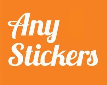 Bulk Vinyl Sticker Sets - Choose Your Own