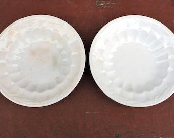 """2 White Ironstone Side Plates Wheat Pattern 5"""""""