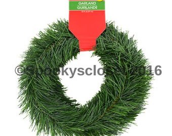 15 Foot 15 Feet Wired Holiday Green Indoor Outdoor Pine Garland Christmas Decoration CHRISTMAS CRAFT