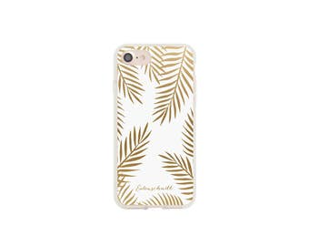 iPhone 6 and 6s case golden leaves
