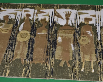 Tibor Reich Fabric Age of Kings Shakespeare Art Panel 1964 Textile Design 178A