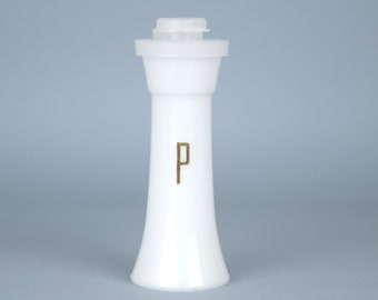 Vintage Tupperware Small White Hourglass Pepper Shaker Only