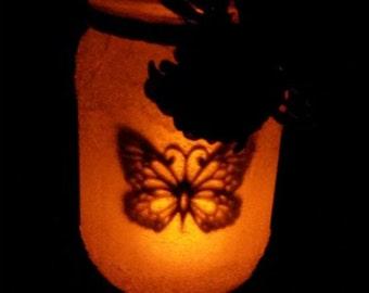 Butterfly Silhouette Jar
