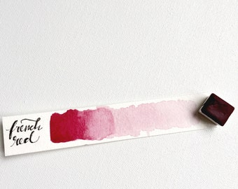 French Red handmade watercolor paint