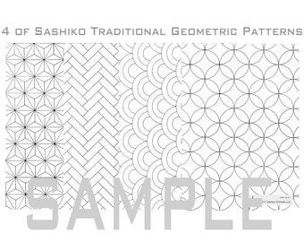 Sashiko Geometric Pattern (1_Traditional)