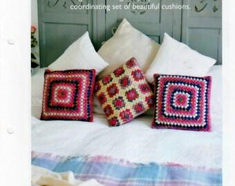 Crochet Pattern pdf, Crochet Trio of Cushions - DK Wool - Instant Download