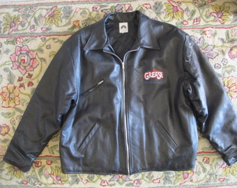 Grease 20th Anniversary T BIRDS Leather Jacket SIGNED by Olivia Newton John XL