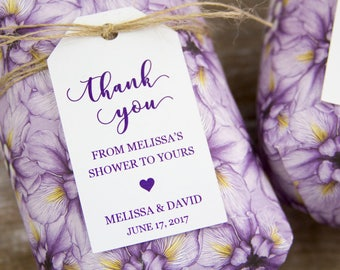 Bridal Shower Tags - Bridal Shower Favors - Baby Shower Favors - Soap Favor - Bath Bomb Favor - Bath Favor - Bridal Shower Ideas - SMALL