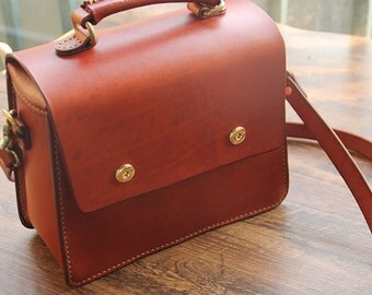 Handmade genuine leather shoulder  bags/ tote bag/ saddlebag/woman satchel