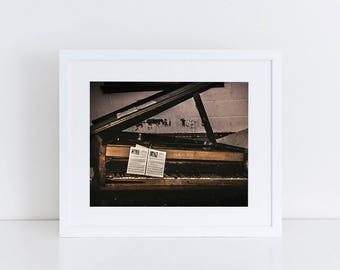 Abandoned Piano - Urban Exploration - Fine Art Photography Print