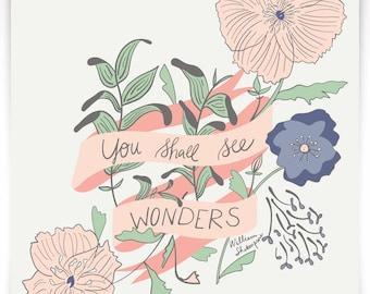 You Shall See Wonders Print