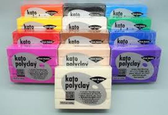 Kato polyclay polymer clay 2oz blocks superior strength, color fast and versatility