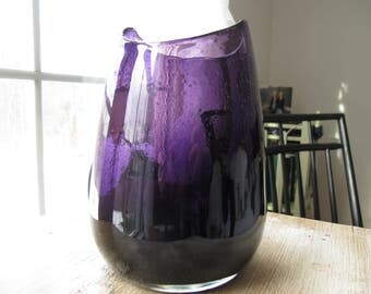 Deep Purple Vase - Large Vase - Grape Colored Vase