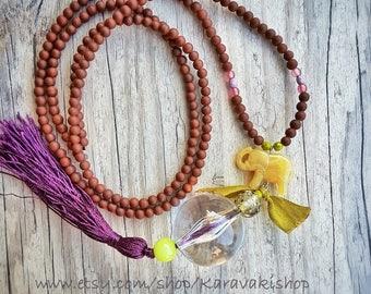Elephant jewelry,Beaded Long elephant necklace,I love elephants,Long boho necklace,Elephant lover gift,Elephants,Elephant Layering necklace,