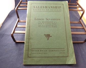 Salesmanship Secrets of Success Book