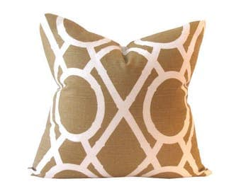 Gold Designer Pillow Cover 19 x 19 Inches
