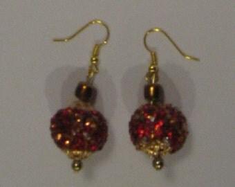 Dazzle Orange Earrings