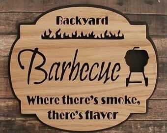 Backyard Barbecue Wood Sign Cut On Scroll Saw