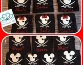 Family Disney shirts, Pirate Mickey and Minnie mouse shirts, Pirate Night family vacation shirts